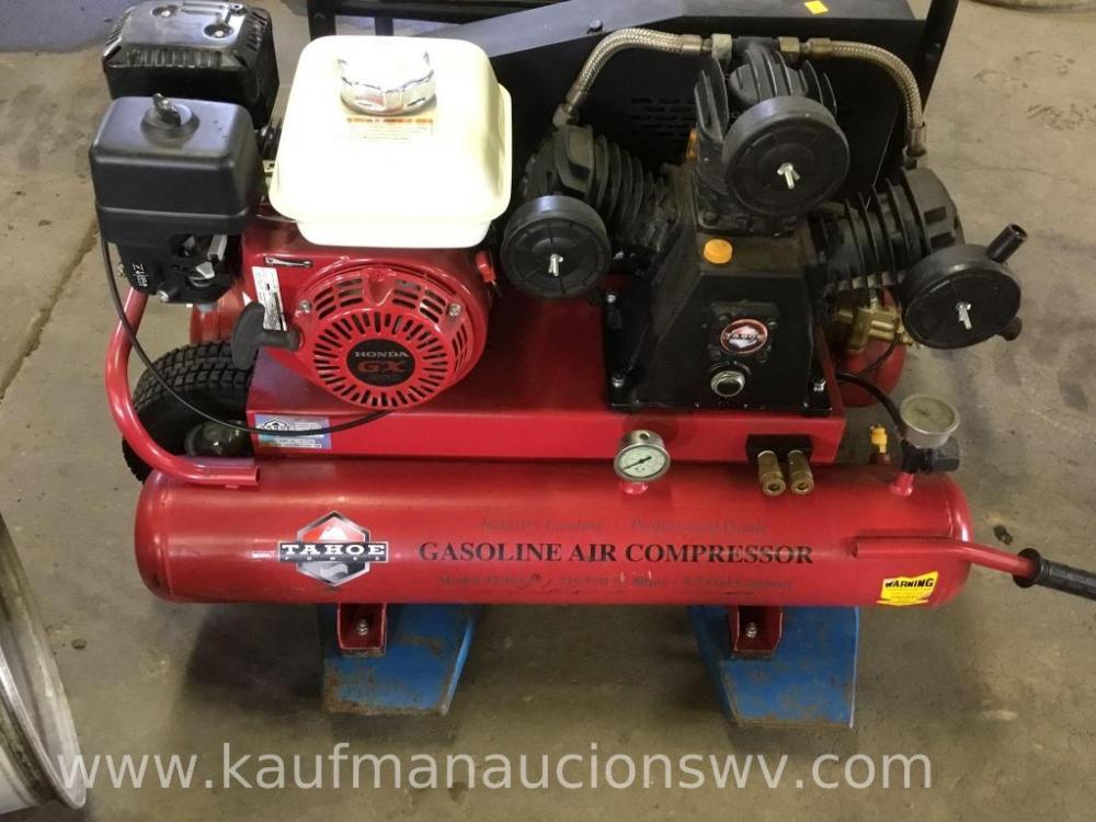 Lot 22 Of 46 Tahoe Ed Gasoline Air Compressor Tp16521 80psi 9 5 Gallon