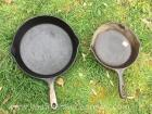 8 inch and 10 inch cast-iron skillets