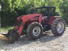 596 Massey Ferguson tractor with loader 4 x 4 Serial# 80298T22037
