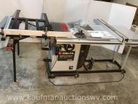 Delta Unisaw right tilt table saw with accessories