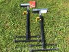 2 workmover ball bearing adjustable rollers stands