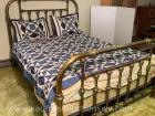 Queen size brass metal bed frame
