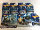 Nine hot wheels diecast cars