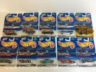 9 hot wheels diecast cars & chopper