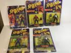 Five Marvel Spiderman action figures