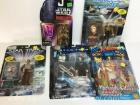 5 action figures - Star Wars, Star Trek, X-Men
