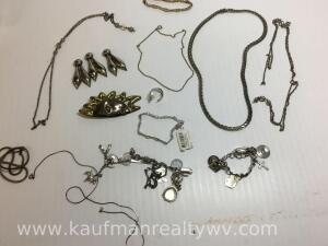 Makes lot of jewelry, mostly sterling