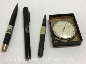 Calligraphy pens and gauge