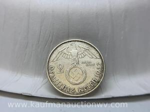 1937 silver Germany coin