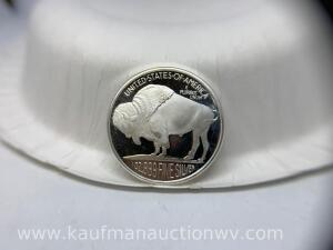 Indian head buffalo 1 ounce fine silver