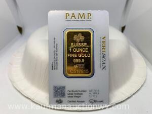 Suisse 1 ounce fine gold bar