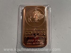 1 ounce copper bar