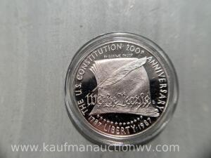 200th anniversary United States Silver dollar