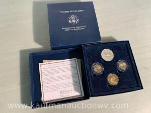 United States mint Westward journey nickel series 2005 coin & metal set