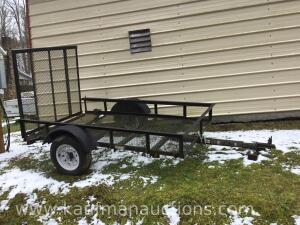 8' x 5' single axle trailer. HAVE TITLE