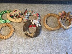 Assortment of wreaths-not all are in first picture