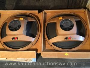 Two Mustang M-12T three-way speakers