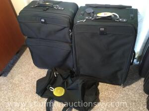 Four piece American Tourister luggage set