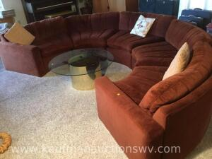 5 pc Half round sectional