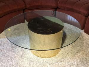 36 inch diameter glass top coffee table
