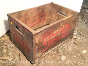 Ebensburg PA Pepsi-Cola wood 24 bottle crate