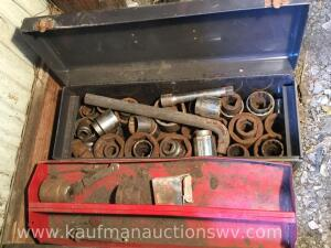 3/4 inch drive socket's and metal toolbox