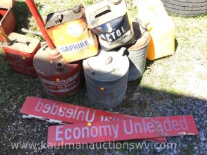 Metal gas can, galvanize cans, advertising cans