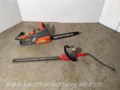 "Remington 16"" chainsaw and craftsman 20"" trimmer"