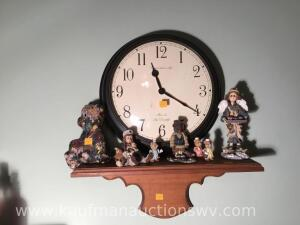 Shelf with Clock and figurines