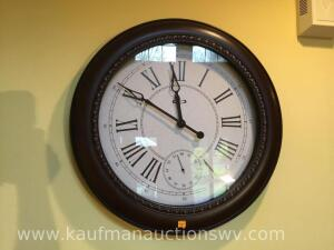 "23"" Roman numerals battery wall clock"