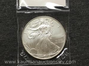 2008 uncirculated silver eagle