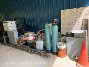 Electrical boxes, panels, track, motor, miscellaneous