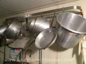 Commercial kitchen utensil holder, cookers, Colanders