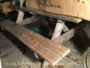 6 foot wooden picnic table