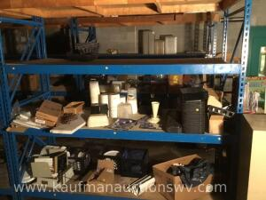 Pallet rack and contents