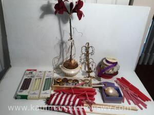 American flags, candles, candleholders, napkin holders, decor