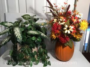 Two floral arrangements
