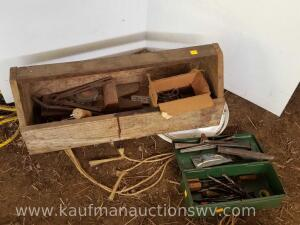 Toolbox with bits and punches & wooden tool carrier
