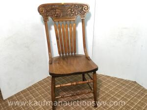 Oak dining room table chair
