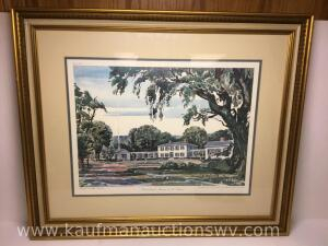 "30"" x 25"" Blennerhassett mansion in the summer by Howard H. McGinnis 1 of 3"