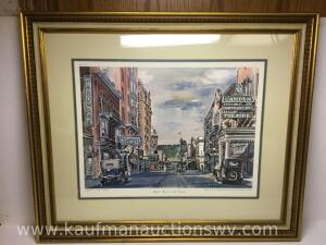 "25"" x 30"" market Street in the twenties by Howard H McGinnis 2 of 3"