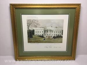 "19 1/4"" x 17 1/2"" the presidents house, Washington by Lefevre Cranstone 1860"