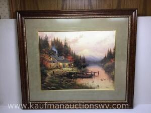 "30"" x 26"" The end of a perfect day by Thomas Kinkade 942/1250"