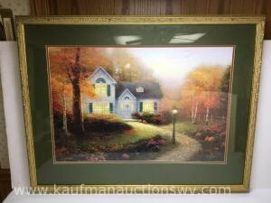 "35 1/2"" x 28"" the blessings of autumn by Thomas Kinkade 89/1250"