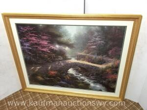"41"" x 32 1/2"" bridge of faith by Thomas Kinkade 1673/3850"