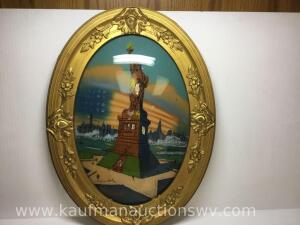 "19"" x 25"" Statue of Liberty reverse painting"