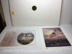 "16"" x 20"" spirit of America and the light of freedom by Thomas Kinkade"