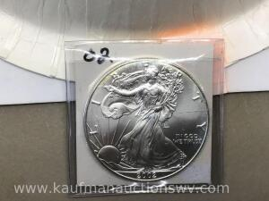 2002 uncirculated silver eagle