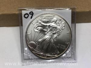 2009 uncirculated silver eagle