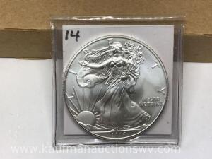 2014 uncirculated silver eagle